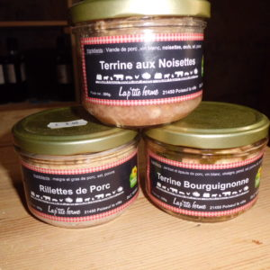 Lot de 3 terrines bocaux