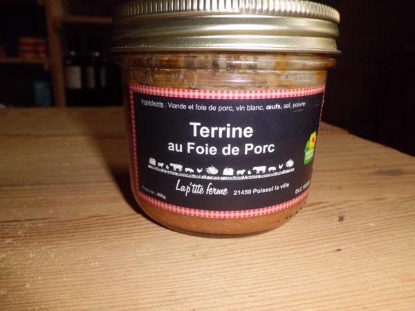 Terrine au foie de porc bocal